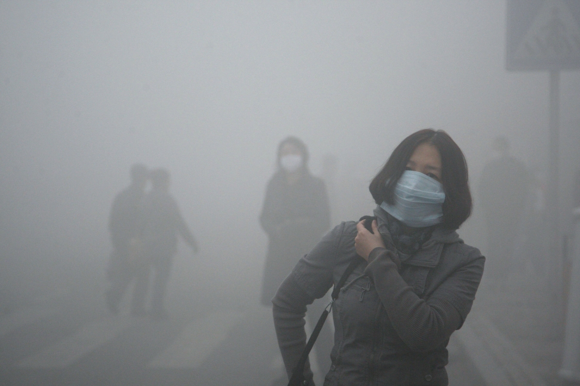 Smog in Harbin, China