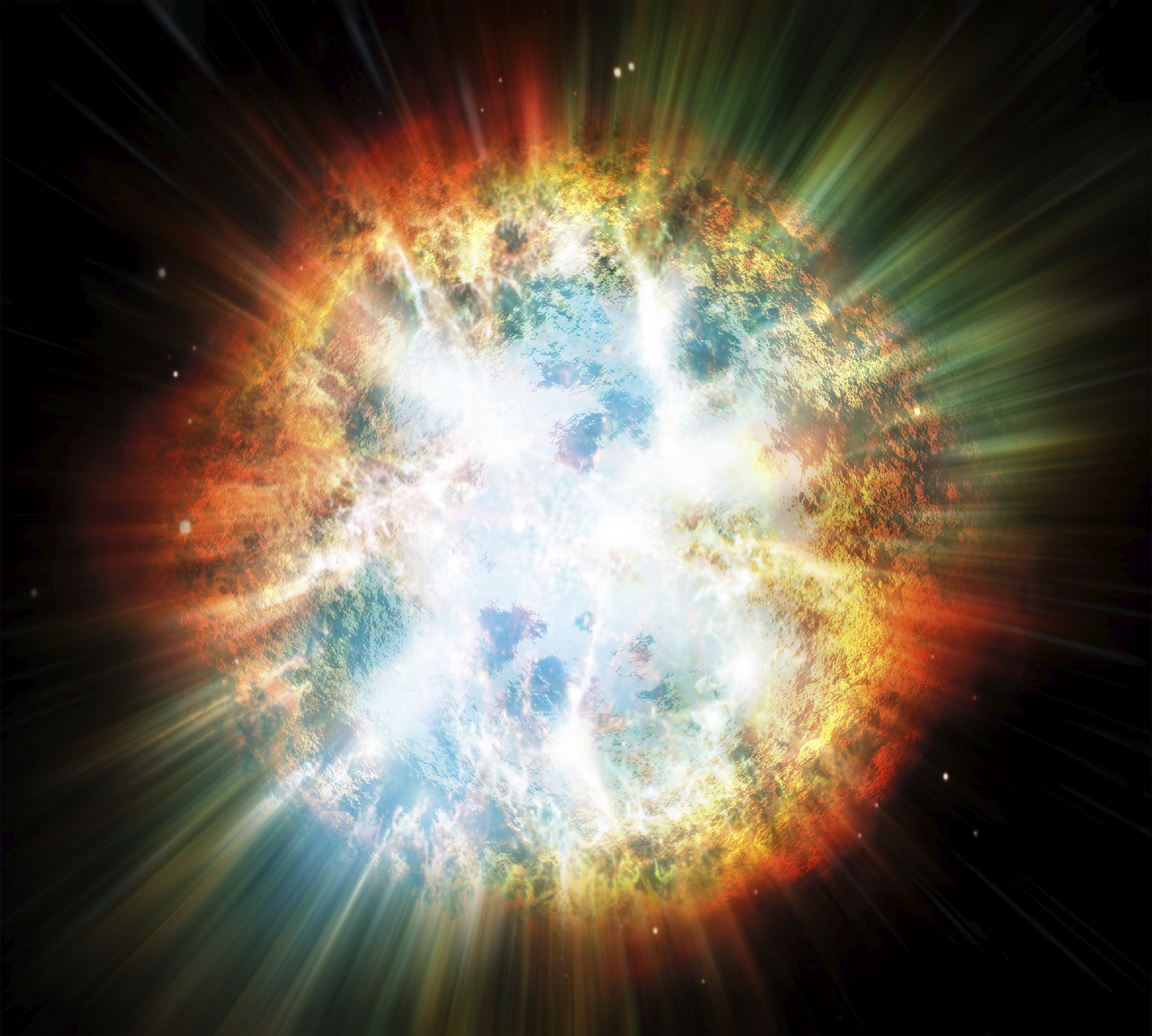 Explosion of planet or star
